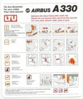 LTU AIRBUS A330 safety card