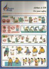 Bangkok Airways Airbus A320 safety card