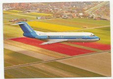Airline issue postcard - NLM Cityhopper KLM F-28