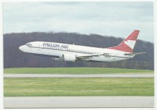 Airline issue postcard - Falcon Air Sweden B737