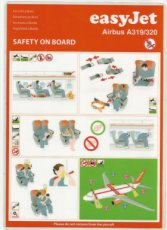 Easyjet Airbus A319 / A320 safety card
