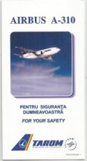 Tarom Airbus A310 safety card