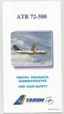 Tarom ATR-72-500 safety card