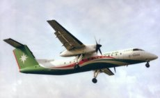 Uni Air Taiwan Dash 8-300 B-15239 postcard