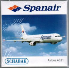 Spanair Airbus A321 scale model Schabak
