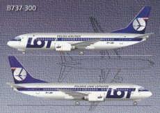 Airline issue postcard - LOT Polish Airlines B733 Airline issue postcard - LOT Polish Airlines Boeing 737-300