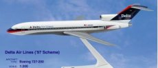 Delta Airlines Boeing 727-200 1/200 scale desk model Long Prosper