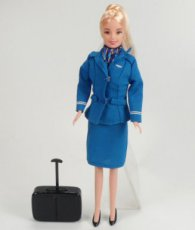 KLM Flight Attendant Stewardess Doll