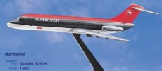 Northwest Airlines DC-9 1/200 scale desk model Long Prosper