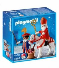 Playmobil 4893 - Sinterklaas en Zwarte Piet - Sticker on front box!