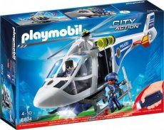 Playmobil City Action 6874 - Polizei-Helikopter mit LED-Suchscheinwerfer