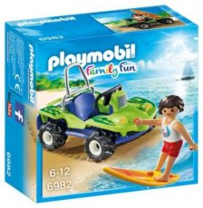 Playmobil Family Fun 6982 - Surfer met Strandbuggy