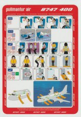 Pullmantur Air Boeing 747-400 safety card